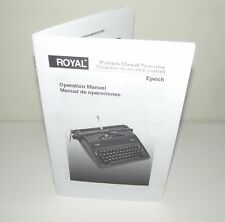Royal Epoch Portable Typewriter Reproduction English Spanish Instruction Manual