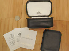 VINTAGE COLLECTIBLE EBEL GRAY LEATHER DISCOVERY DISPLAY BOX SET ZIPPER