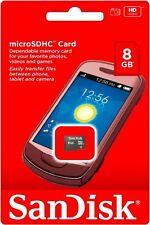 SanDisk 8GB microSD C4 8G microSDHC micro SD SDHC memory card SDSDQ-008G *Retail