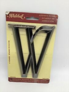 """WHITEHALL Door House Address Number Letter W Brushed Nickel 6"""" 152mm 6 in"""