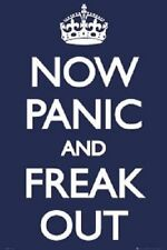 Now panic and freak out Slogan poster 24x36""