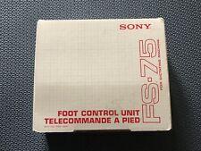 More details for sony fs-75 foot control pedal for fs85 for bm87, bm147, bm840 transcribers