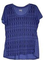 Marmot Ladies Hi/Lo Activewear Purple Print Short Sleeve Top Size XL