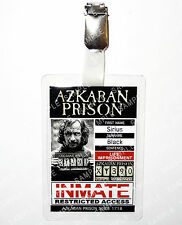 Sirius Black Azkaban Prison ID Badge Harry Potter Hogwarts Cosplay Comic Con