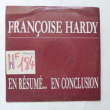 francoise hardy En résumé en conclusion promo FL 12/01