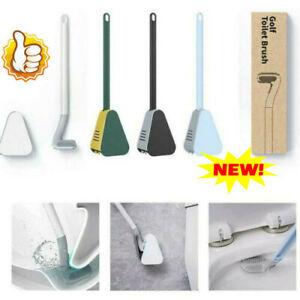 Golf Toilet Brush Long Handled Toilet Brush Wall-Mounted Silicone Toilet Brush