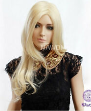 Sexy Perücke, Blond, Sehr Lang, Glatte Haare Frisur Hellblond Neu Mode Wigs