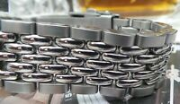 BEADS OF RICE 316L PREMIUM STAINLESS STEEL 20mm BRACELET WITH CLASP-STUNNING!