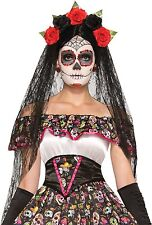 Onorevoli giorno dei morti HALLOWEEN CARNEVALE VELO FANCY DRESS COSTUME COPRICAPO