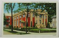 Westfield Woman Club 1928 Postcard Massachusetts