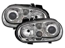 CLEAR ANGEL EYE WITH FOG LIGHTS HEADLIGHTS HEADLAMPS FOR VW GOLF MK4 10/97-9/03