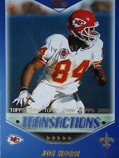 NFL 257 Joe Horn New Orleans Saints Topps 2000 Transactions