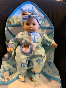 "Bitty Baby Doll Clothes Handmade 15"" Cinderella Princess Sleeper Blanket Band 1"