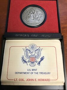 """LT. COL. JOHN E. HOWARD """"AMERICA'S FIRST MEDALS"""" IN HOLDER - PEWTER - U.S. MINT"""