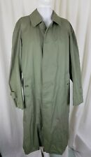 Vintage Cordings of Piccadilly Placket Front Cotton Trench Coat Mens 40 Olive
