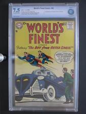 World's Finest Comics #92 -CBCS 7.5 VF- DC 1958 - Batman - 1st App of Skyboy!!!