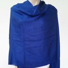 100% Cashmere Nepalese Handmade Warm Blue Color Shawl Stole Scarf Neck Wrap