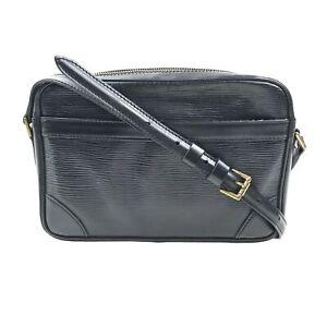 100% Authentic Louis Vuitton Epi Trocadero 24 Black M52312 [Used] {09-028B}
