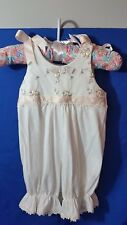 Baby Beau & Belle Elegant Infant Wear Girl Romper 3 Mo. White Pink With Snaps