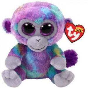 Ty Beanie Boos Medium - Zuri the Multicolored Monkey