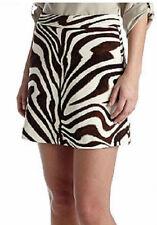 Michael Kors Zebra Print Ponte Flare Mini Skirt - Chocolate