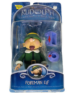 Foreman Elf w/ Wagon & Paint Can Figure 2002 Rudolph Island of Misfit Toys