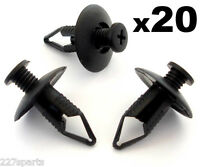 20x 8mm Mazda Bumper, Wheel Arch Lining, Undertray Trim Panel Retainer Clips