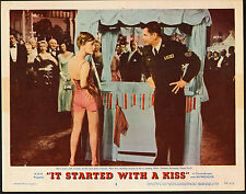 IT STARTED WITH A KISS original 1959 lobby card DEBBIE REYNOLDS/GLENN FORD