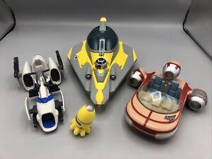 Hasbro Playskool Star Wars Galactic Heroes Lot Landspeeder,  A-Wing, Speeder