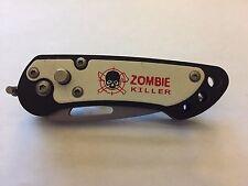 """5"""" Mini Assisted Open Zombie Killer Skull Design Folding Knife"""