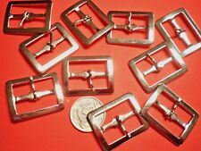 10 SILVER BUCKLES WITH TONGUE 25mm LONG 20mmWIDE