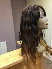 Ladies Synthetic  Full  Wig Brown colour WEAVE CAP Long Colour  GM238b
