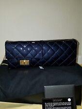 MYPOUPETTE AUTHENTIC LE CHANEL CLUTCH/ SHOULDER BAG DK BLUE BNEW