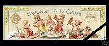 Vintage French Soap Perfume Label Original c. 1900 Savon Jolis Bebes Cosmydor