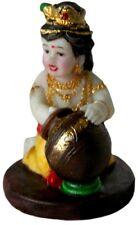 KRISHNA Tiny Baby Butter Thief India Hindu STATUE God Murti Y315