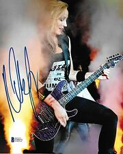 Nita Strauss Signed 8x10 Photo BAS Beckett COA Alice Cooper Guitar Autograph 4