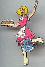 Hard Rock Cafe CHICAGO May 2001 Judsons 4000th MEAL PIN Waitress Girl HRC #1840