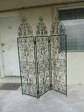 SHOW STOPPING MID CENTURY MEXICAN MONTEREY STYLE WROUGHT IRON  FOLDING SCREEN
