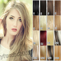 AAA Clip in Human Hair Extensions Full Head Top Quality Black Brown Blonde Red