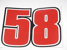 "Marco Simoncelli 58 ""ciao marco"" bike sticker decal - A4 size - 30cm x 21cm"