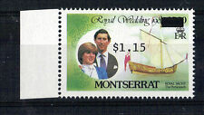MONTSERRAT 1981 ROYAL WEDDING $3 OVERPRINTED WRONGLY TO $1.15 MNH