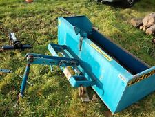 compact tractor equipment 5ft tipping link-box -chain arrows plus 3 point hitch