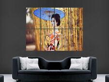 Ragazza asiatica Geisha Gigantesco Muro Poster ART PICTURE PRINT Grande
