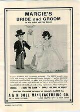 1948 PAPER AD Marcie's Bride & Groom Dolls Doll A&H Artoys Toy Phone Radio Brand