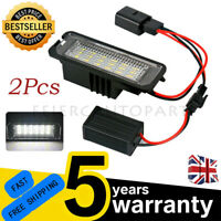 2LED License Number Plate Light Lamp For VW Golf MK5/6 GTI Scirocco Polo Passat
