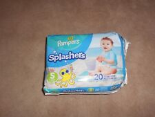 New, Pampers Splashers Size Small 13-24 Lbs., 20 Disposable Swim Pants