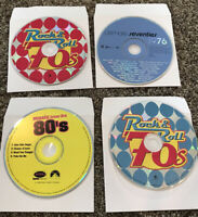 Lot of 4 1970s - 1980 Mixed CDs Audio Music Songs Rock N Roll R&B Pop