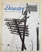 Vintage 1950 RED CROSS DISASTER MAGAZINE (VOL. 4 NO. 1) FLOOD AT FORTH WORTH