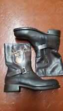 NWB DSQUARED2  GOODYEAR CONST. ENGINEER BIKER BOOTS 11 44 BROWN
