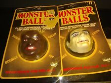 Lot 2 Vintage Universal Monsters Monster Balls Illco Dracula, Wolfman Unopened